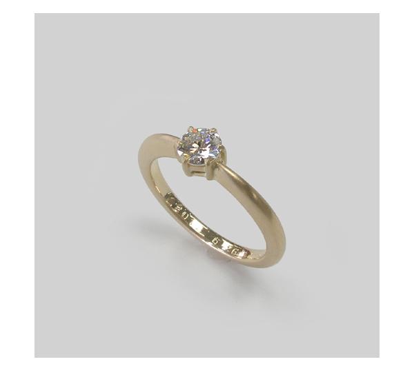 新しく作り変えた婚約指輪
