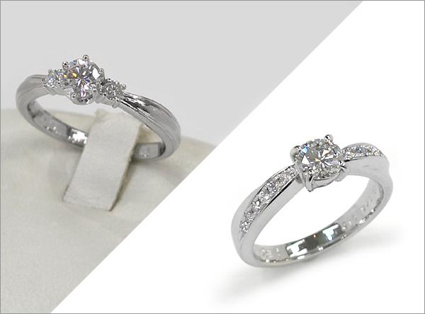 お母さまの婚約指輪をお嫁さんの婚約指輪にリフォーム