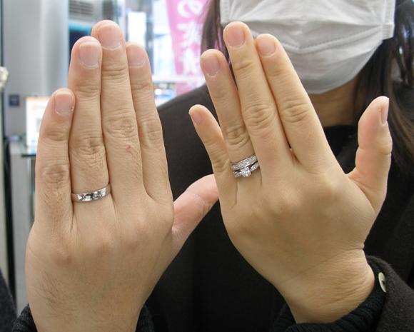 P平甲丸リングの結婚指輪
